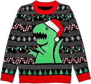 Trex Ugly Christmas Sweater Dinosaur Dino Gift for Boys/Girls 6yr - 12yr