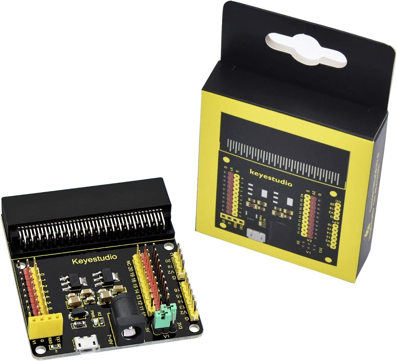 Dallas Super popular specialty store Mall KEYESTUDIO Microbit Sensor Breakout Board V2 f SPI mciro USB I2C