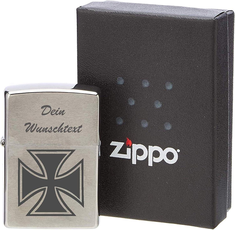 ZIPPO Sturmfeuerzeug Eisernes Kreuz mit WunschText oder oder oder Namen B07NY2HQ6P e90935