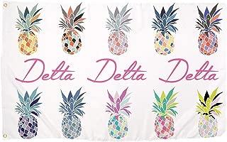 Delta Delta Delta Tri Delta Pop Art Pineapple Sorority Flag Greek Letter Use as a Banner 3 x 5 Feet Sign Decor