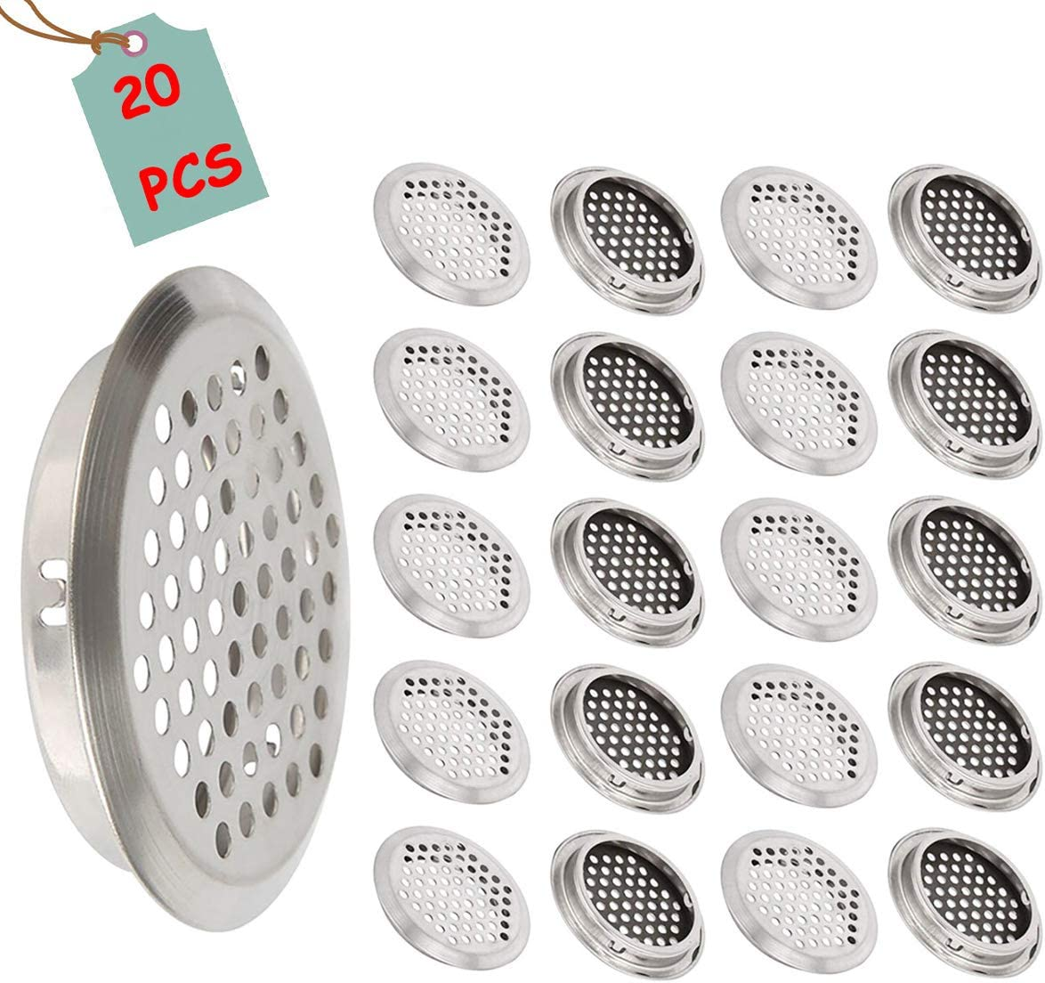Ranking TOP13 Farbetter safety 20Pcs Stainless Steel Round Mesh Vents Hole Air Inch 2