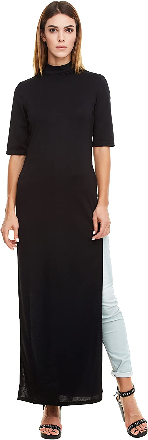 Certain Lady Women's Casual Short Sleeve Long Maxi Dress  Comfortable Dress with Side Slit for Casual or Any Occasion
