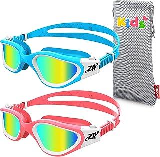 ZIONOR Kids Swim Goggles, 2 Packs G1MINI Polarized Swimming Goggles Girls/Boys