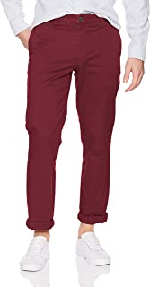 Amazon Brand - Goodthreads Men's Straight-Fit Washed Chino trouser, Burgundy, 40W x 29L