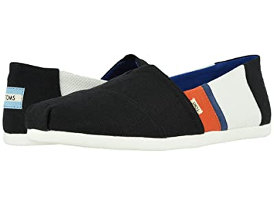 TOMS Alpargata 3.0 (Black/White Canvas Color Block) Men