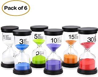 Comsmart Sand Timer, 6 Colors Hourglass Sandglass Sand Clock