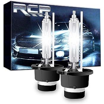RCP HIDバルブ 車用ヘッドライト D2S/D2R汎用 純正交換 35W Xenon HID 6000K 発光色選択可能 明るさアップ 加工なし 2年保証 2個入り RCP-D2C