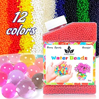 AINOLWAY High Elastic Water Beads Gel Pearls Jelly Crystal Soil for Vase Fillers (9 Oz, Red)