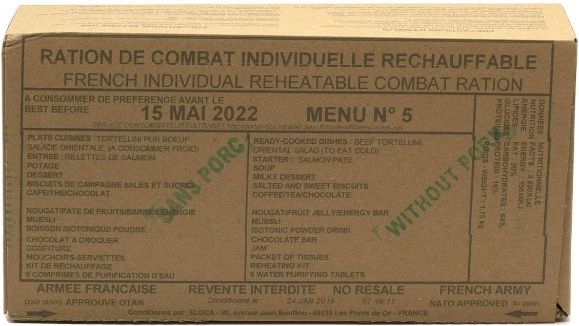 New FRENCH MRE Army Ration Meal Food Chicago Mall To Ready Supp Emergency Recommendation Eat