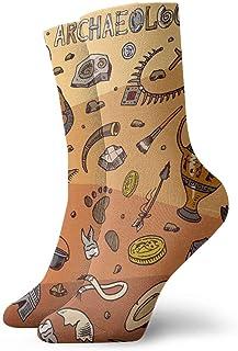 goodsale2019, Calcetines de vestir para hombre, herramientas de arqueología de la India y ciencia, calcetines de regalo informales cálidos con estampado grueso y cálidos para invierno