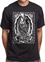 Men's Black Graphic T Shirt Virgin Mary Brown Pride Mi Vida Loca Guadalupe