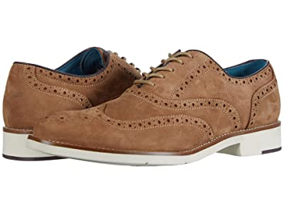 Johnston & Murphy Watkins Wing Tip (Camel Nubuck) Men