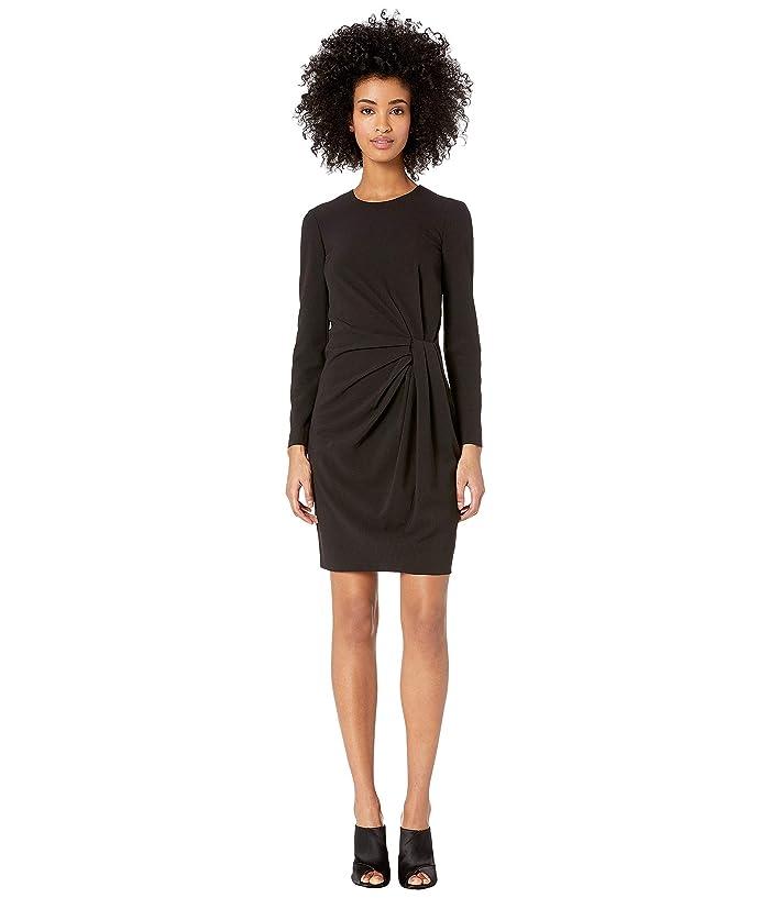 Boutique Moschino Long Sleeve Dress Side Knot (Black) Women