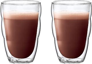 Bodum 10485-10 PILATUS 2-delat glasset (dubbelväggiga, isolerade, diskmaskinssäker, 0,35 liter) transparent