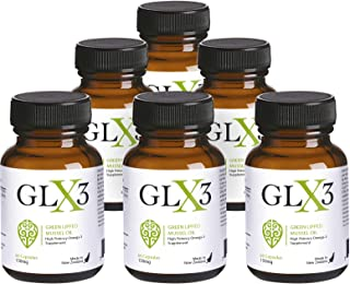 GLX3 6 Pack - Extra Strength Green Lipped Mussel Oil Capsules – Green Mussel New Zealand Oil & Joint Supplements – Natural No Fish Burp Oil – Arthritis Pain Relief & Joint Pain Relief – 60 Tablets