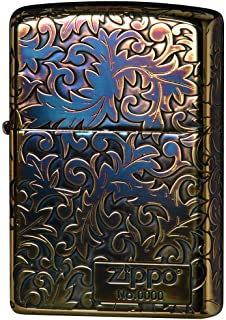Zippo Classic Arabesque Logo Oxidized Gold Plating 5-Sides Etching Japan Limited Oil Lighter