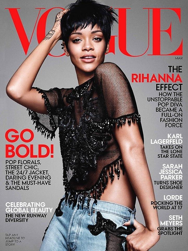 穏やかな百万郵便Vogue [US] March 2014 (単号)