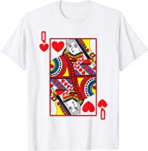 Halloween Playing Card Costume QUEEN OF HEARTS shirt T-Shirt