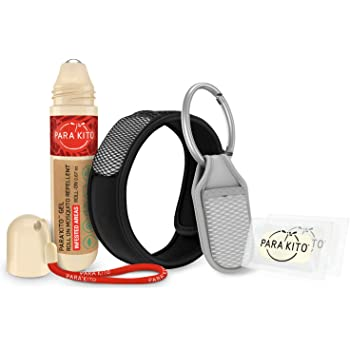 Para'Kito Mosquito Repellent Bundle - 1 Roll-on | 1 Wristband | 1 Clip (Roll-on + Black + Sage)