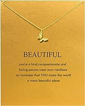 Baydurcan Friendship Anchor Compass Necklace Good Luck...