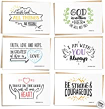 120 Pack Bible Verse Greeting Cards - Bulk Box Set - Craft Paper Envelopes and Labels Included