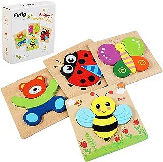 Felly Juguetes Bebes, Puzzles de Madera Educativos para Beb