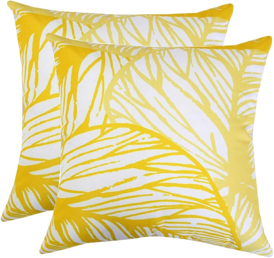 Homey COZY 8H2316-20 Large-scale sale Price reduction Accent Pillow Pack 2 Yellow