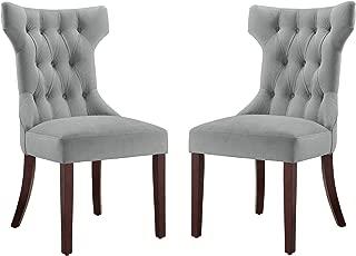 Dorel Living DA6090-PL Clairborne Upholstered dining chair, set of 2, Gray