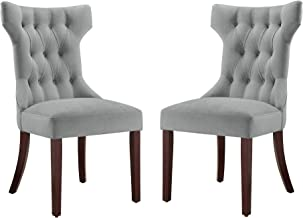 Dorel Living Clairborne Upholstered dining chair, set of 2, Gray
