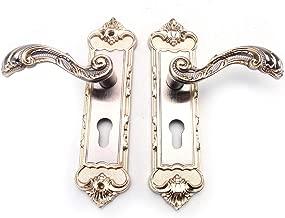 Poignée de porte de blocage Pack avec serrure charnières escutcheons et chrome Poignées de portes