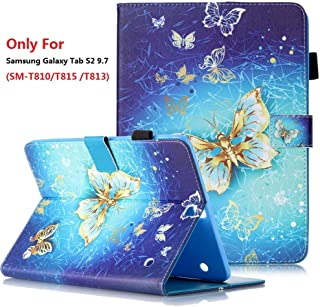 Samsung Galaxy Tab S2 9.7 (SM-T810 / T815 / T813) Case, YMH Magnetic Flip Folio Cute Auto Sleep/Wake Multi Angle Stand Pocket Wallet Case Cover PU Leather Case for Samsung Galaxy Tab S2 9.7 (03)