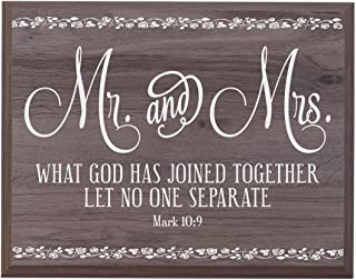 LifeSong Milestones Mr and Mrs Wedding Anniversary Wall Plaque Gift for Husband Wife Parents, Best Friend, and Christian Gift Ideas 12 Inches Wide X 15 Inches High Wall Plaque (Salt Oak)