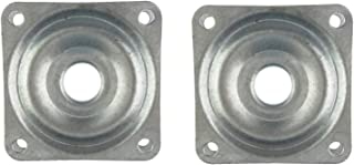Kasteco 2 Pack Square Lazy Susan Turntable Bearing, Steel, Silver Tone, 2-inch