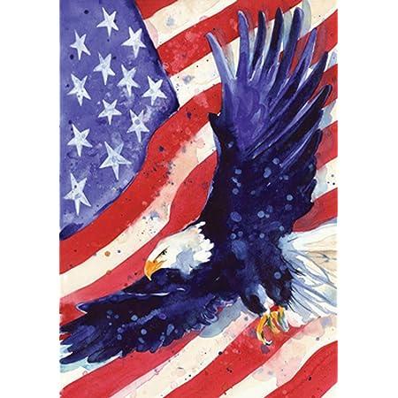 Toland Home Garden 108227 Liberty Eagle 28 X 40 Inch Decorative House Flag 28 X 40 Outdoor Flags Garden Outdoor