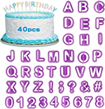 Alphabet Letter Number Fondant Icing Sugarcraft Cutter Cake Decorating Mould UK