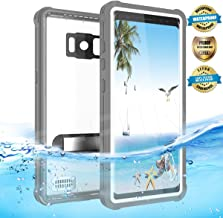 EFFUN Samsung Galaxy S8 Plus Waterproof Case, IP68 Certified Waterproof Cover Dust/Snow/Shock Proof Case with Kick Stand, PH Test Paper and Floating Strap Black/White/Light Blue/Pink/Aqua Blue