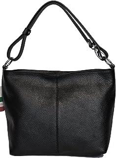 86f1f004f8 LucieElle Sac Femme CUIR Grainé Italien porté bandoulière porté épaule Sac  a Main Femme 'Rafaela
