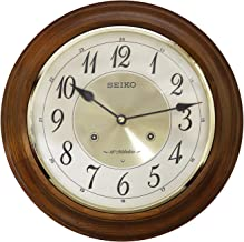 SEIKO Wood Wall Clock (31 x 31 cm, Brown)