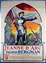 Joan Of Arc (1948) Original French 47x63 Movie Poster Linen-Backed INGRID BERGMAN Film directed by VICTOR FLEMING