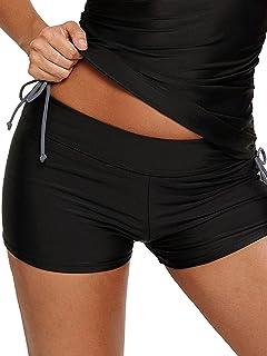 4650fc729f WILLBOND Women Swimsuit Shorts Tankini Swim Briefs Side Split Plus Size  Bottom Boardshort Summer Beach Swimwear