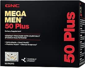 GNC Mega Men 50 Plus Vitapak Program, 30 Packets