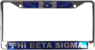 Desert Cactus Phi Beta Sigma Line Number # Metal License Plate Frame for Front Back of Car Sigma (#5 License Plate Frame)