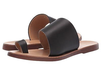 Massimo Matteo Slide with Toe Ring (Black) Women