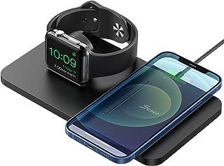 Seneo Cargador Inalámbrico Rápido - 7.5W Cargador Doméstico 2 en 1 para iPhone 8 a iPhone 11 Pro y AirPods Pro, Soporte de...