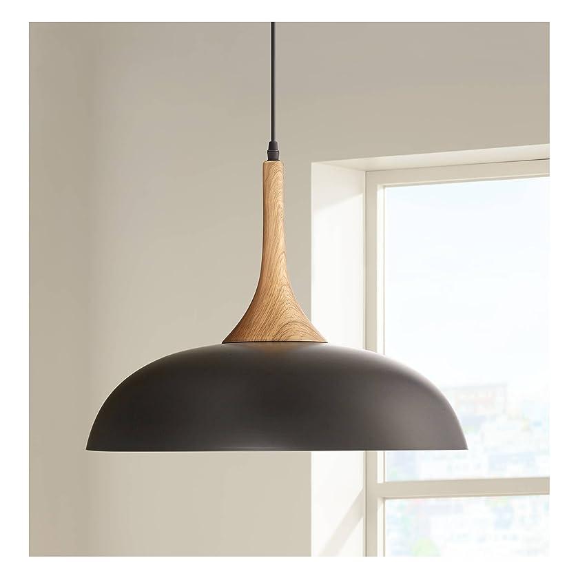 Felton Black Aluminum and Wood 17 3/4
