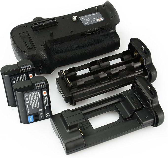 DSTE Multi-Poder Vertical Batería Apretón Titular Compatible con Nikon D800 D800E DSLR Cámara Fotográfica como MB-D12 con 2-Pack EN-EL15