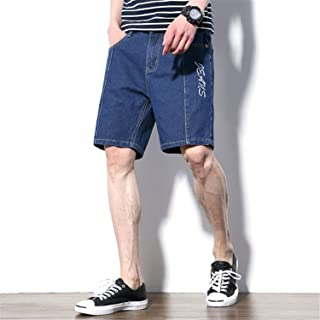6f864ba497d8 Aancy Embroidery Casual Jeans Shorts Men Trousers Sewing Straight Denim  Mens Clothing Blue