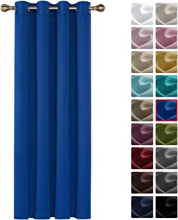 Deconovo Cortinas para Habitación con Aislamiento Térmico Telas Tupidas Gruesas con Ojales 1 Pieza 140 x 180 cm Azul Oscuro