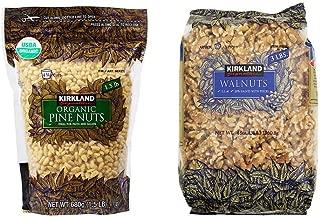 Kirkland Signature Organic Pine Nuts and Walnuts Bundle - Includes Kirkland Signature Organic Pine Nuts (1.5 LB) and Walnuts (3.0 LB)