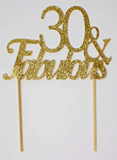 All About Details Gold 30- & -fabulous Cake Topper